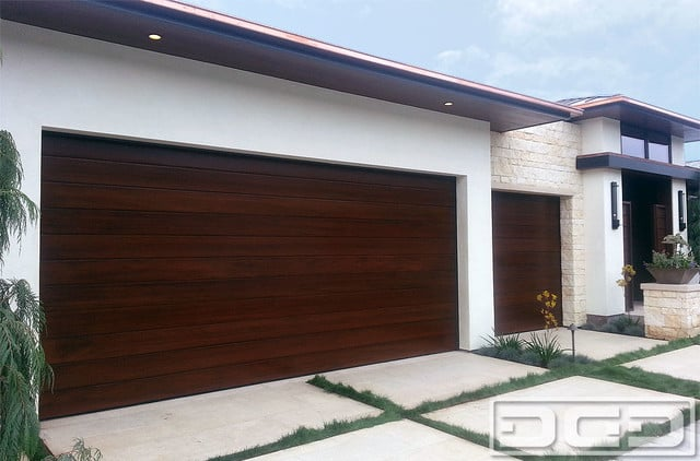 Contemporary Dynamic Garage Doors In Solid Mahogany A