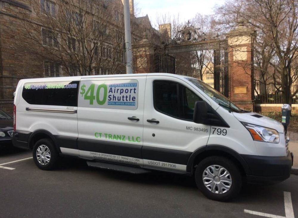 $40 Airport Shuttle: 157 Church St, New Haven, CT
