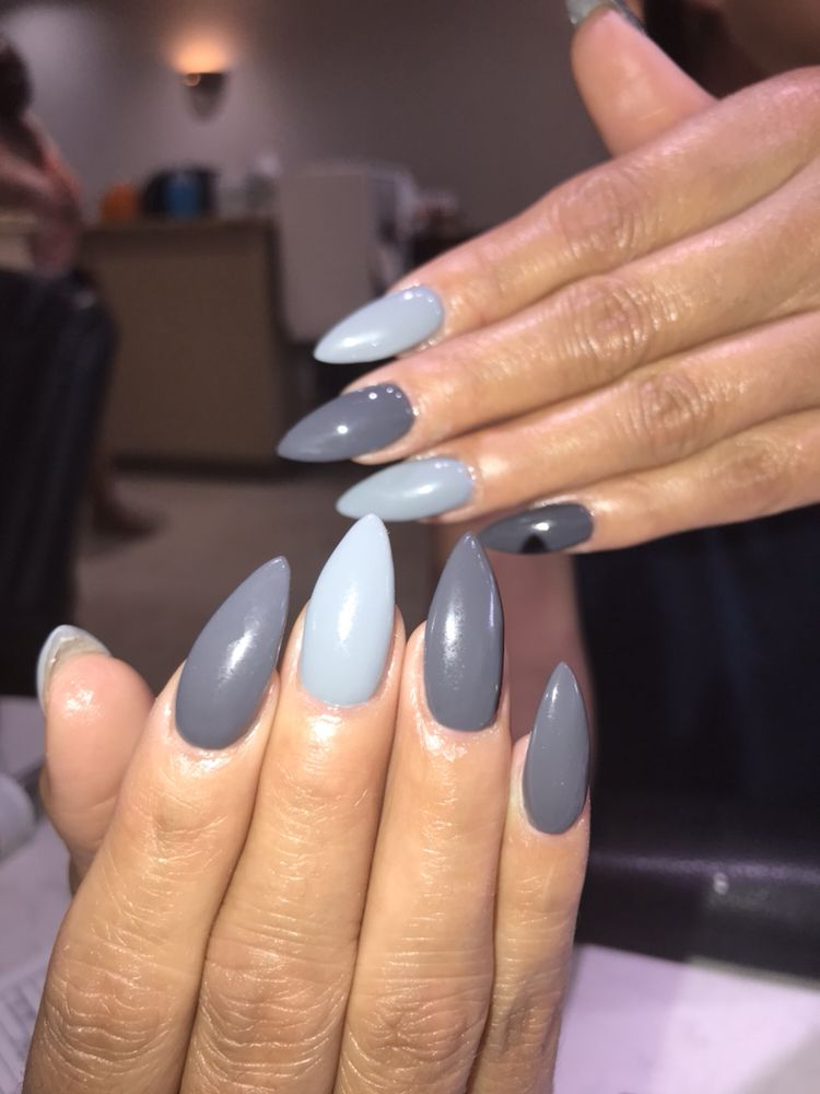 Acrylic full set #gel polish #stiletto shape - Yelp