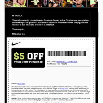 nike factory outlet store coupons