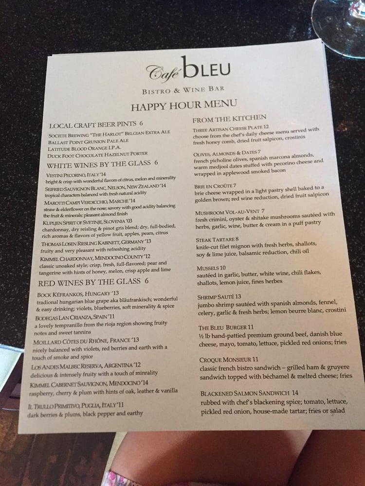 Cafe Bleu San Diego Ca