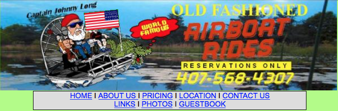 Old Fashioned Airboat Rides: Christmas, FL