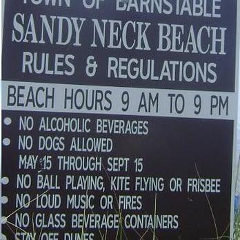 Sandy Neck Beach Map