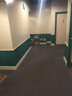 trash left in hallway yelp