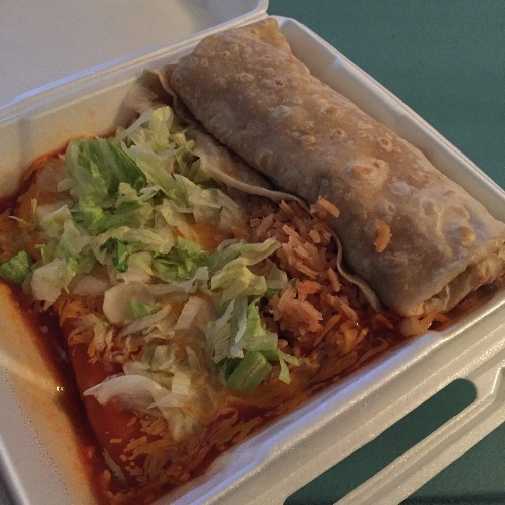 Himalayan Kitchen Salt Lake City: #6 Beef Burrito And Cheese Enchilada Plate. Solid!