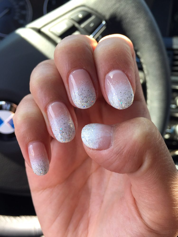 Love my nails! Gel manicure -natural base color (#188) with white ...
