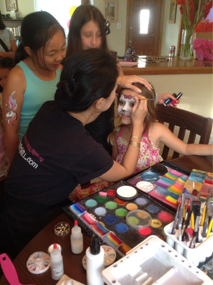 Photo Of Peppermint Mill Face Painting