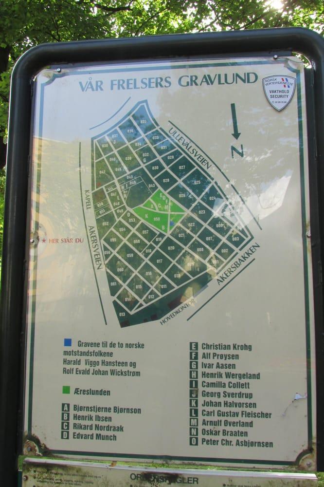 vår frelsers gravlund kart Vår Frelsers Gravlund Kart | Kart