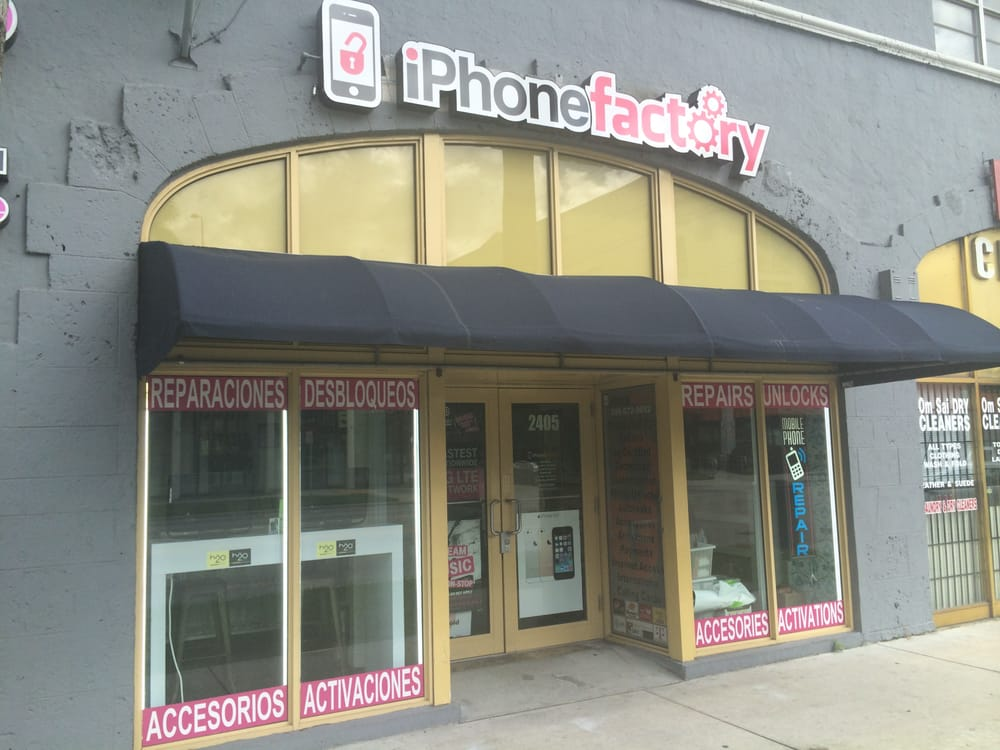 iphone factory store front located 2405 biscayne blvd miami fl33137 yelp. Black Bedroom Furniture Sets. Home Design Ideas