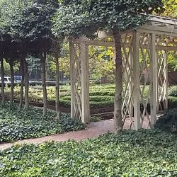Photo Of 18th Century Garden   Philadelphia, PA, United States. Awesome  Spiderweb.