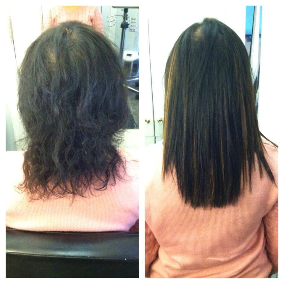 Before And After 12 Inch Fusion Hair Extensions Yelp