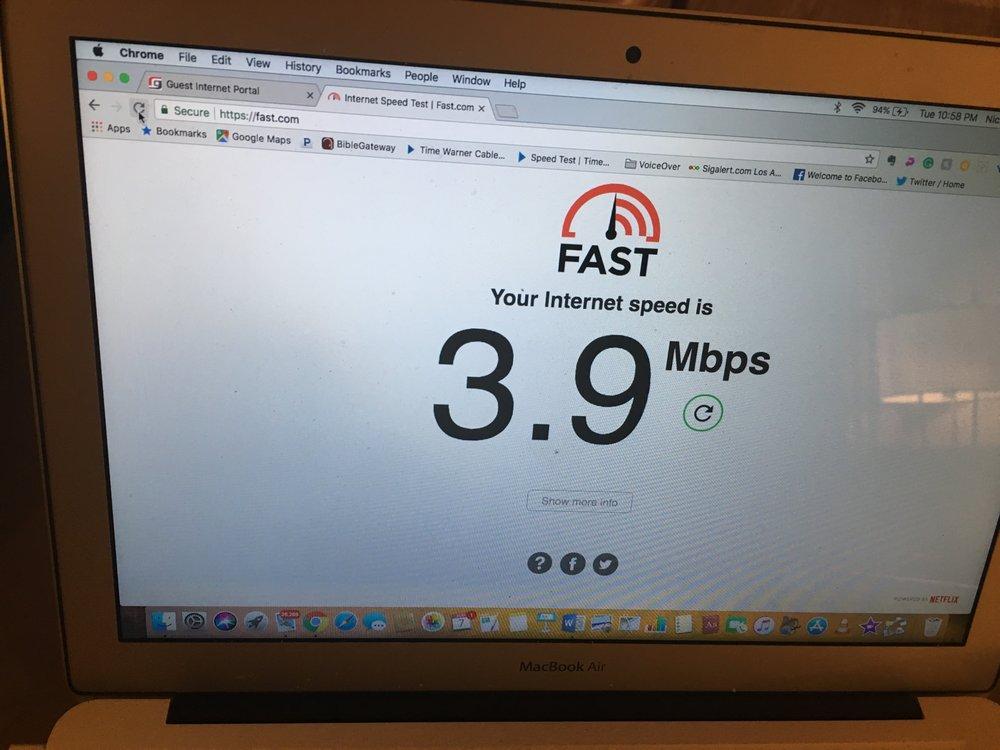 Super slow free WiFi - Yelp