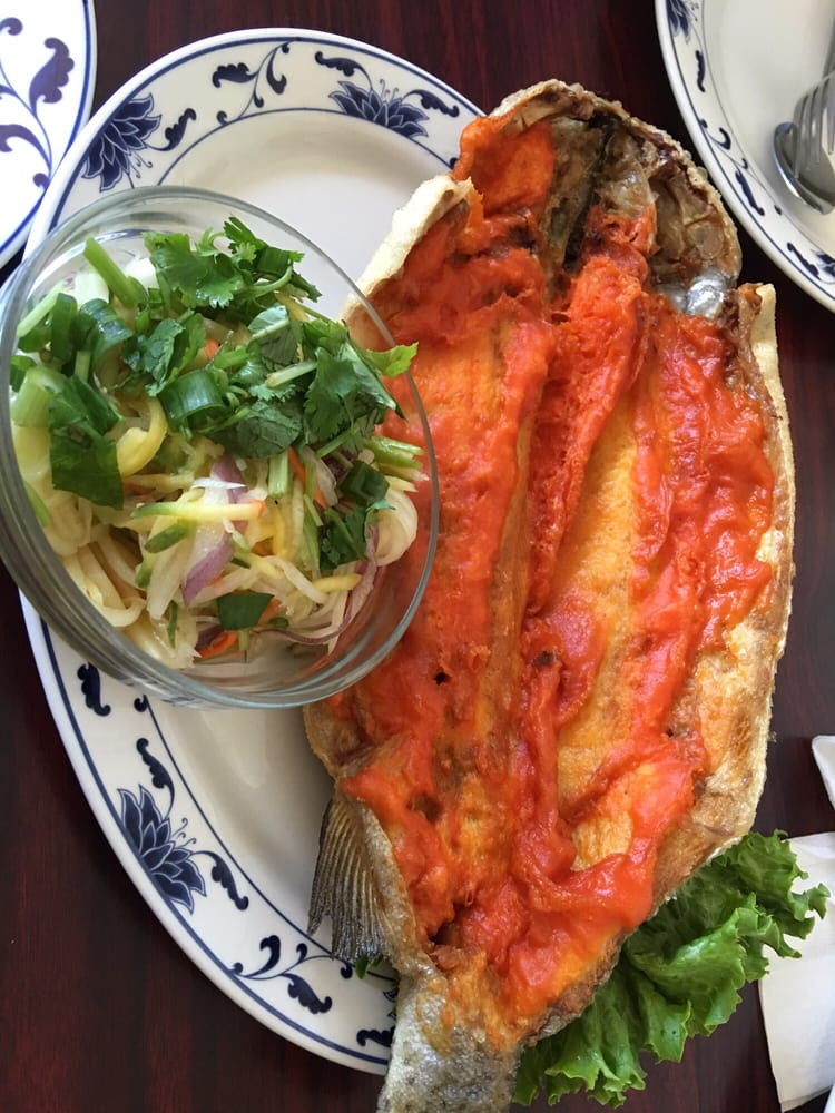 Fried fish with mango salad such a good deal yelp for Good fried fish near me