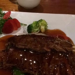 Kumo Sushi, Hibachi, and Lounge - New City, NY, United States. Not the best photo, but the Beef Teriyaki