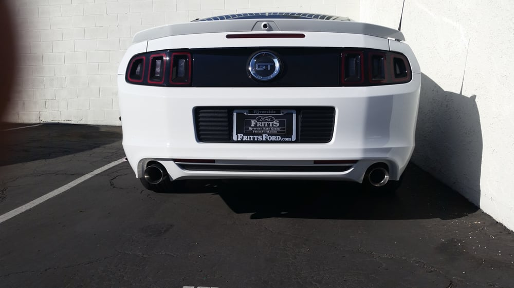 4 Quot Stainless Steel Exhaust Tips Installed On My Stang