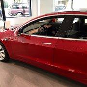 Line To See The Photo Of Tesla Motors Washington Dc United States