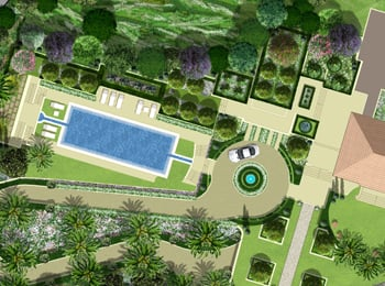 Plan paysager pour un jardin l 39 italienne situ cannes - Jardin a l italienne ...