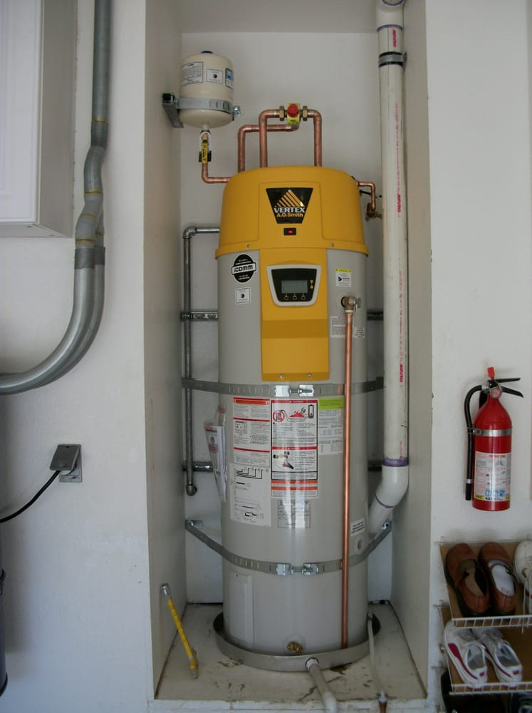 A O Smith Vertex Water Heater Hot Water Recirculation