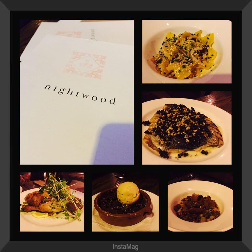 Nightwood Restaurant Chicago Menu