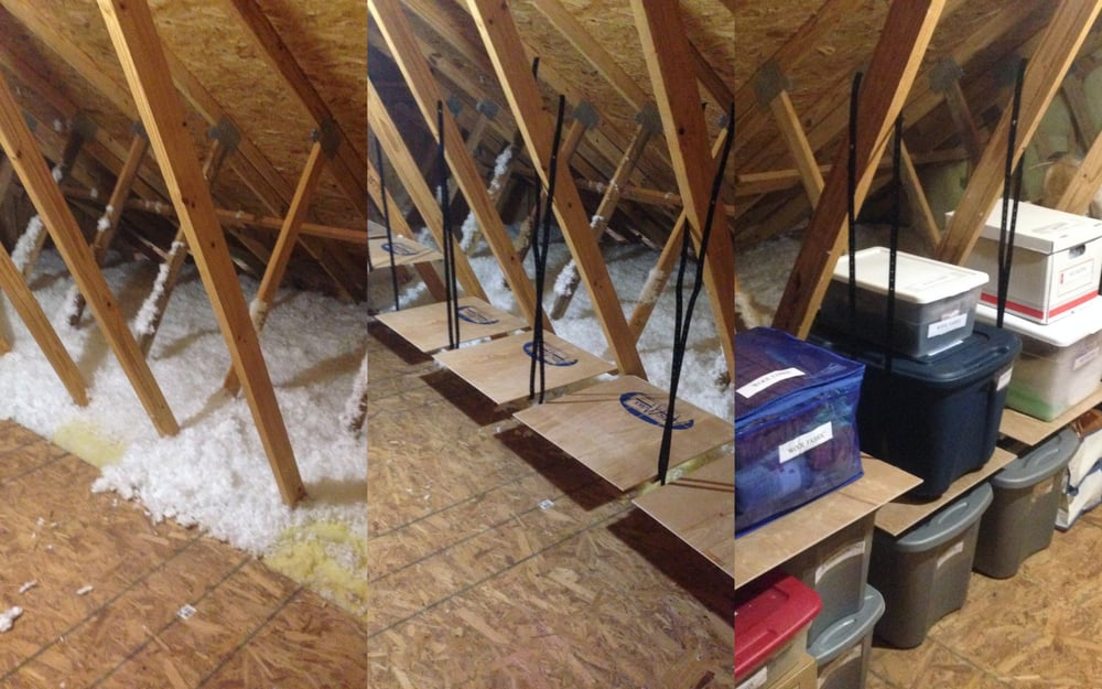 Before After Attic Storage Installation Organization Yelp