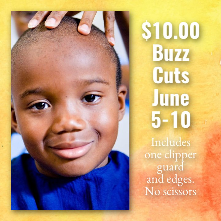 Summer Special 1000 Buzz Cuts Until Sunday June 10 2018 Yelp