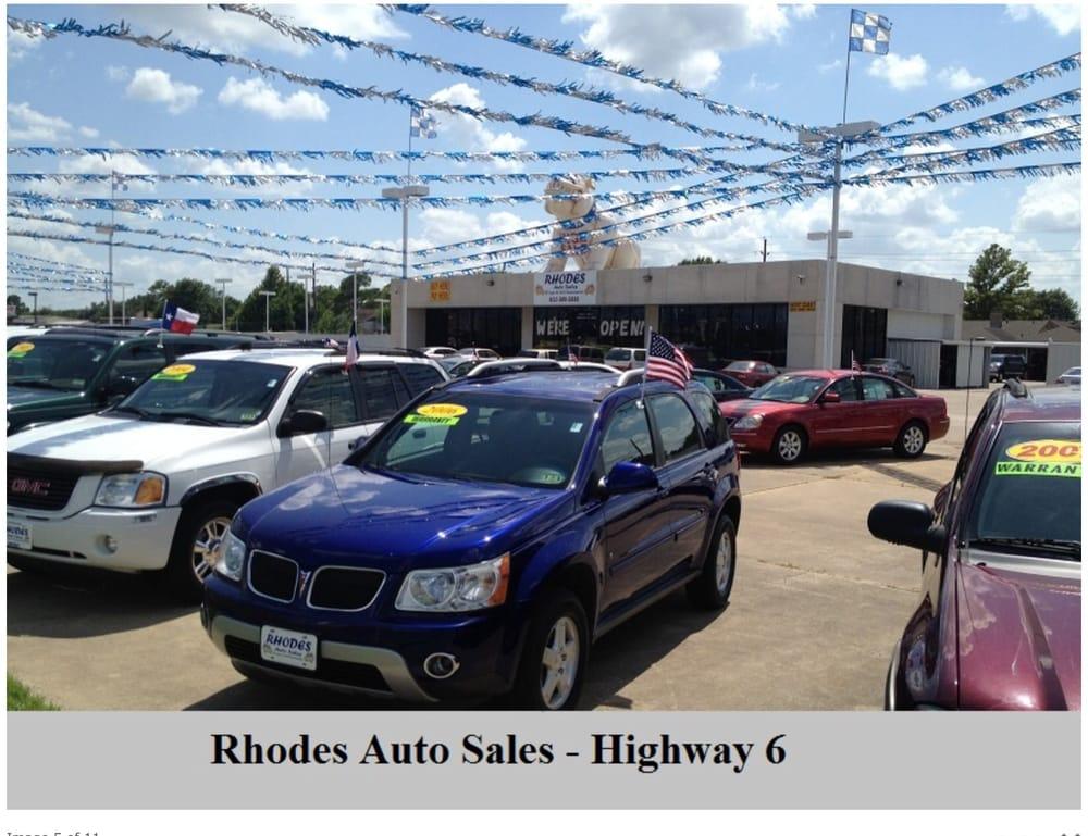 Rhodes Auto Sales >> Rhodes Auto Sales Car Dealers 8710 Hwy 6 S Houston Tx