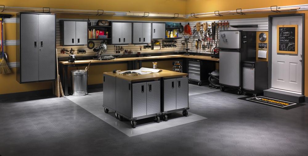 Gladiator Garage Works With Tile Flooring Yelp