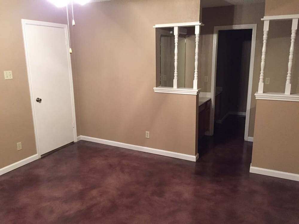 Overlay Stain And Seal Walnut Austin Stained Concrete