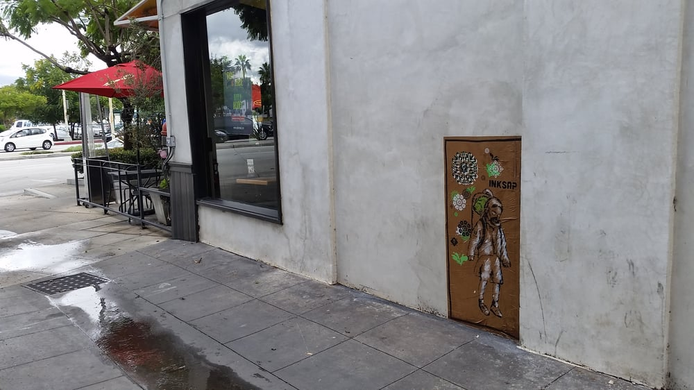 Famous StreetArtist InkSap_ strikes Native Foods in the