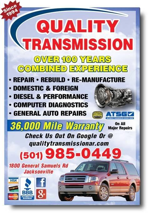 Quality Transmission: 1800 General Samuels Rd, Jacksonville, AR