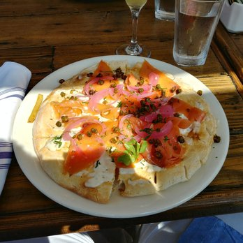 Photo Of Sonoma Wine Garden   Santa Monica, CA, United States. Salmon Pizza