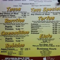 El Palenque Mexican Restaurant Menu