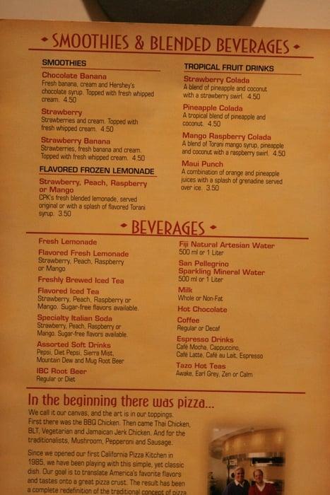 California Pizza Kitchen Drink Menu avocado club egg rolls :: us$8.99 - yelp