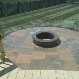 Photo Of Headley Landscape   Indianapolis, IN, United States. Round Paver  Patio W