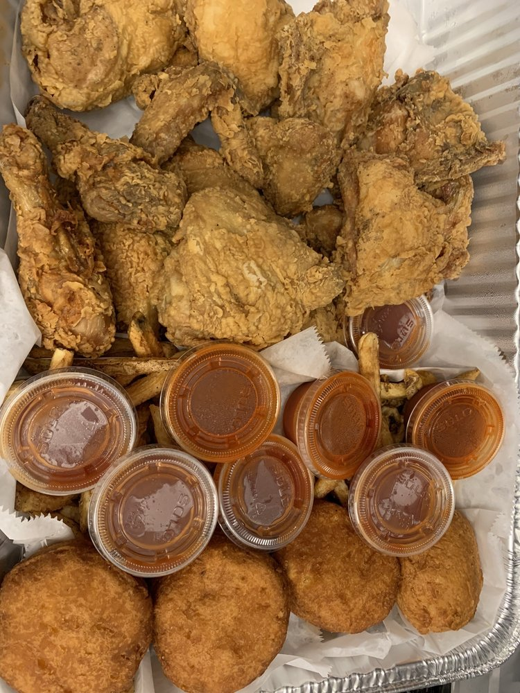 Food from Ms. T's Southern Fried Chicken