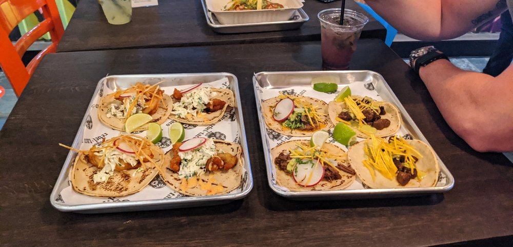 Food from Rebel Taco Cantina