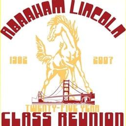 abraham lincoln high school 29 recensioner Celebrating 25th Year Reunion 25th Class Reunion T-Shirts