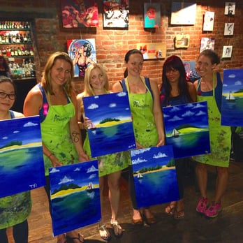 Lovely of Paint Nite Somerville MA United States Bachelorette party of 6 New - Simple Elegant paint nite houston Picture