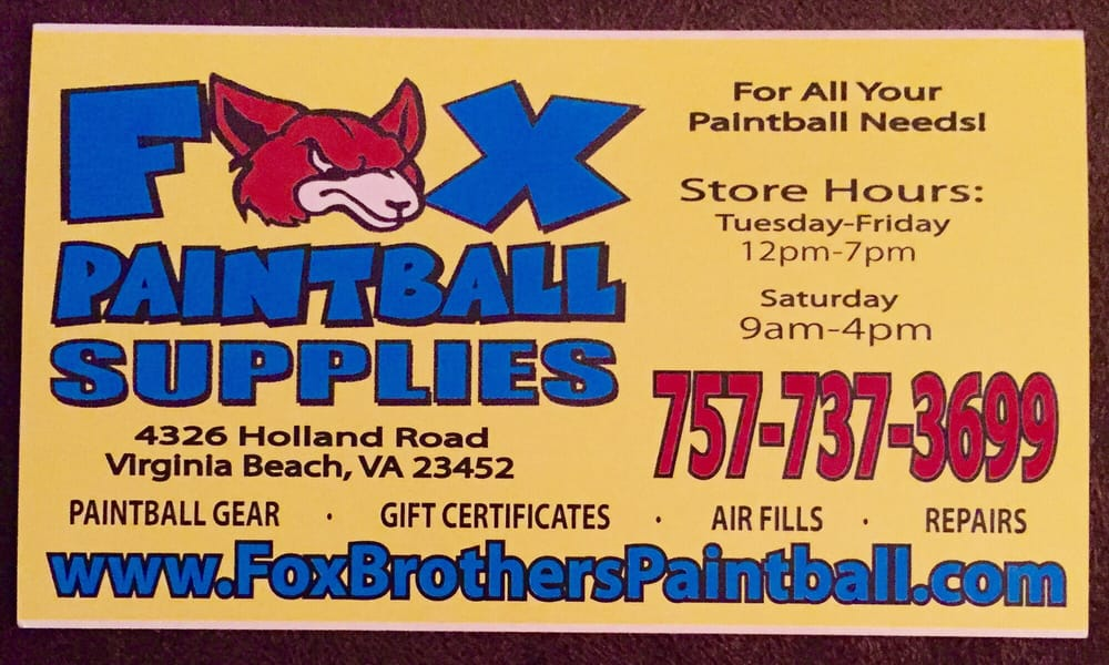 Fox Brother\'s Paintball Supplies - Paintball - 4326 Holland Rd ...