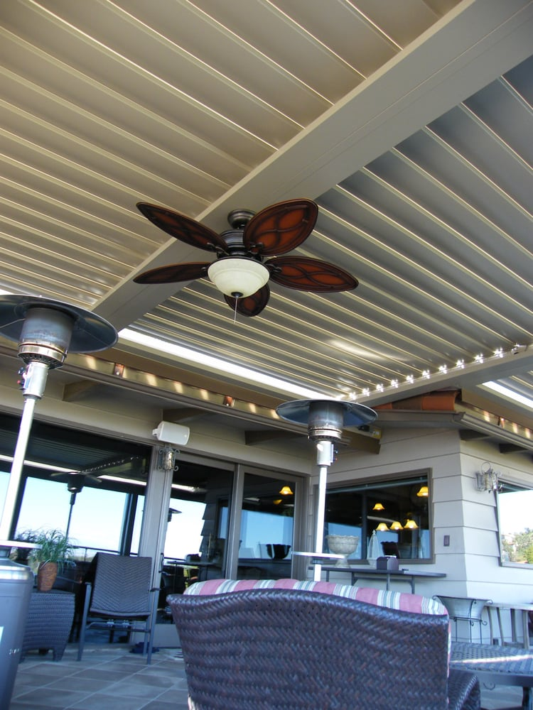 Equinox Louvered Roof Patio Cover Over Outside Bar Area, Contemporary And  Modern   Yelp
