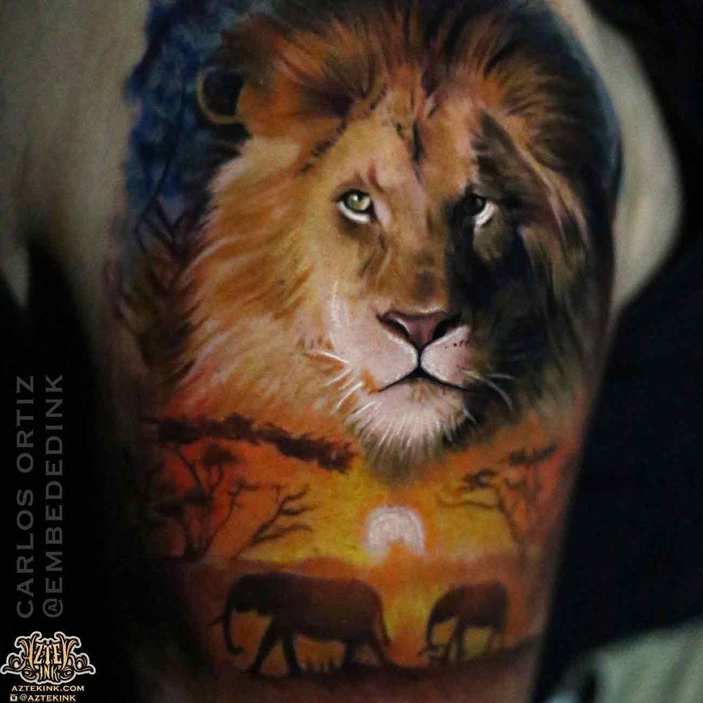 513d0b55a Photo of Aztek Ink - Blue Island, IL, United States. chicago tattoo lion