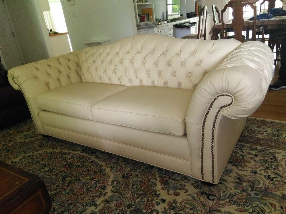 Tuffed really like leather sofa. Was a real job!!!! But came ...