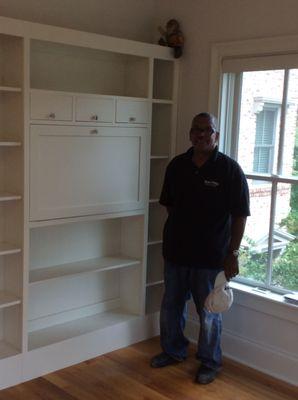 photo of blackwell custom cabinets doraville ga united states tv hidden behind