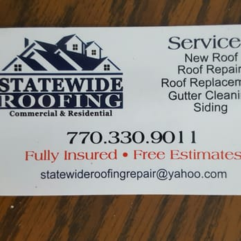 photo of statewide roofing atlanta ga united states business card - Roofing Business Cards