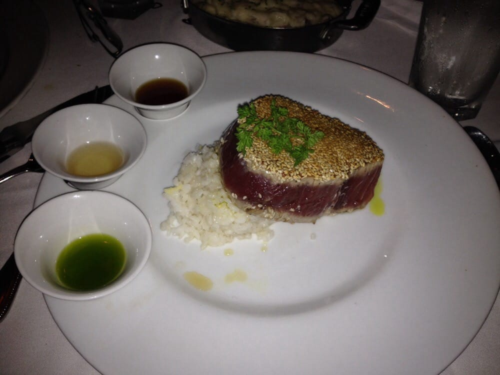 Sushi grade sesame seared tuna with gingered rice for Where to buy sushi grade fish near me