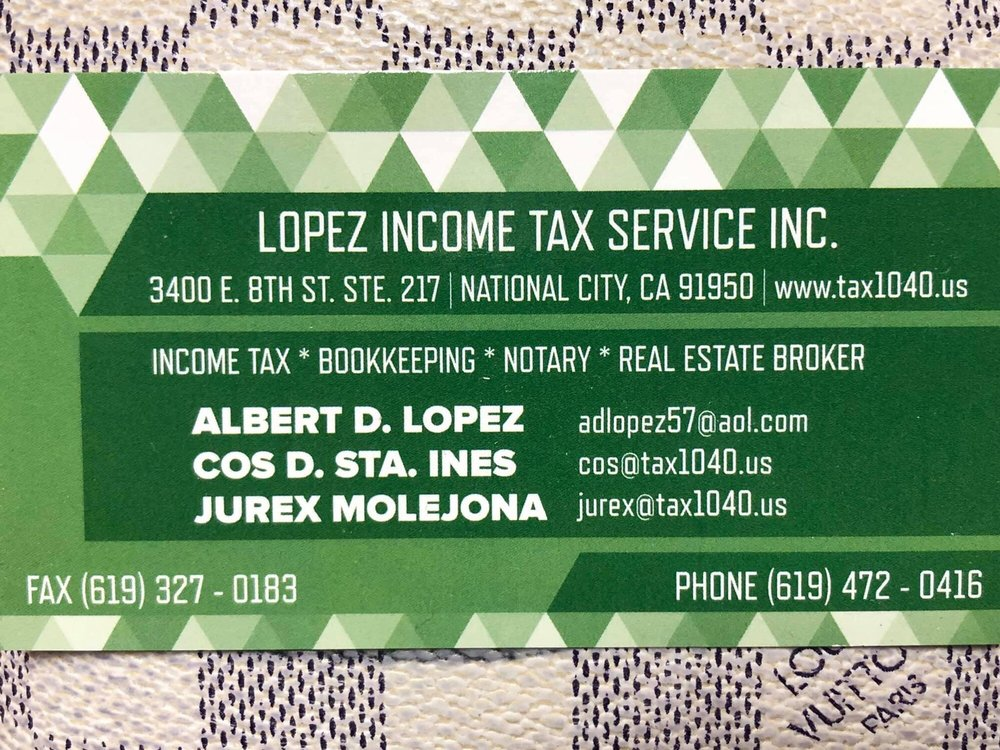 Lopez Financial Services: 3400 E 8th St, National City, CA
