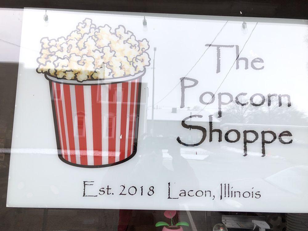 The Popcorn Shoppe: 109 N Broad St, Lacon, IL