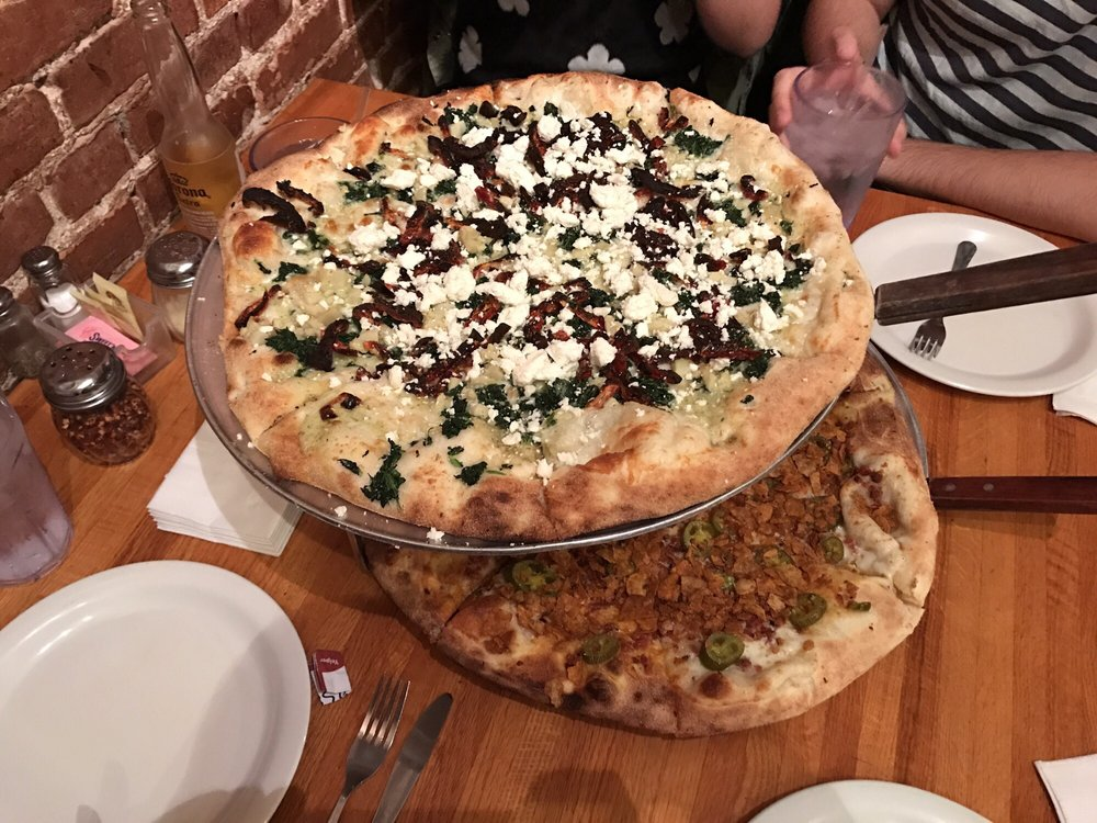 Food from Strong's Brick Oven Pizzeria