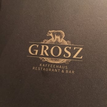 Cafe Grosz Speisekarte