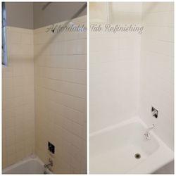 Photo Of Affordable Tub Refinishing   Houston, TX, United States. Tile Refinishing  Bathtub
